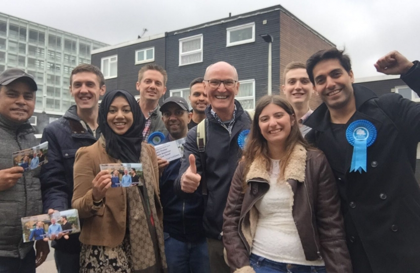 A team of Conservative activists campaigning for Newham 2018