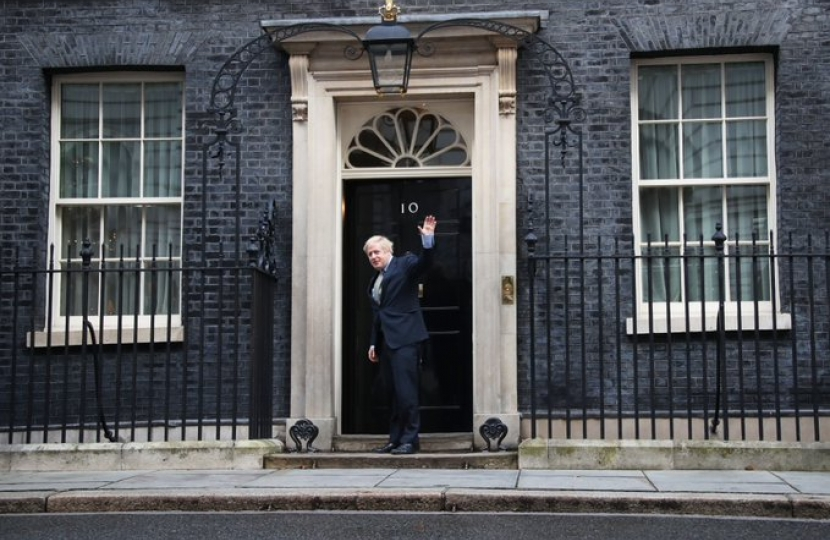 Boris Johnson re-enters No 10 Downing Street