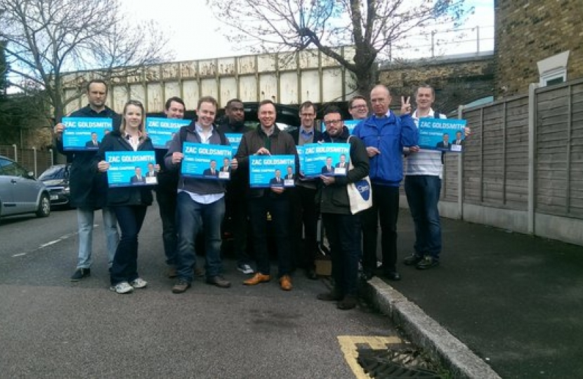 Conservatives campaigning in Forest Gate